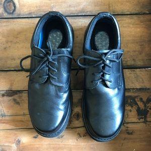 Men's Dr Scholls Black Leather Lace Up Oxford 11